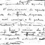L'appunto autografo del comandante di plotone del vice brigadiere Pepiciello (sottotenente Buffa) che propone la decorazione al valore